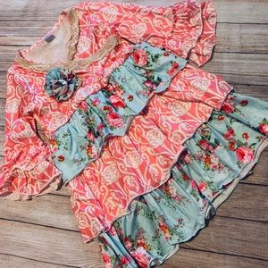 Other - Frilly Floral Boutique Dress